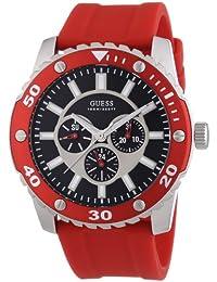 Guess Herren-Armbanduhr XL Analog Quarz Silikon W10616G4