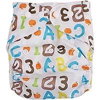 Happy Cherry Pañales Ajustable de Bebé Tela Reutilizable y Transpirable Cloth Diaper Elástico de Varios Modelos