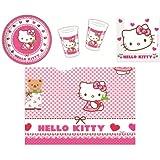 Procos 412274 - Kinderpartyset Hello Kitty Hearts, S