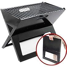 Grill-Eimer verzinkt mit Henkel H 30 cm kleiner Grill zum Mitnehmen Grilleimer