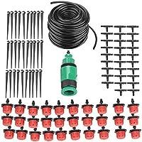 Zerodis Kit de riego, 4/7 mm, tubo de riego, kit de riego de micro goteo, boquilla de manguera, sistema de refrigeración para patio, jardín, césped