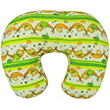 Baby Grow Nursing Pillow With Slipcover Cotton Feeding Pillow And Positioner With Baby Printed Slipcover Baby Feeding Pillow For Mother (Parrot Green Swing)