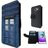 567 - Doctor Who Tardis Box Design Samsung Galaxy A5 (2016) SM-A510F Book Style Purse Wallet Pouch portefeuille Poche Flip Coque Flip Case Carte de crédit Coque