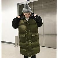 Ispessiscono il cappotto di cotone, grandi Abbigliamento dimensioni, semplice e rilassato, stile di media lunghezza, allentati, addensare, con cappuccio, maniche lunghe, vestiti da donna in cotone cappotto , green