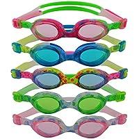 #DoYourSwimming »Flippo« Kinder-Schwimmbrille, 100% UV-Schutz + Antibeschlag. Starkes Silikonband + stabile Box. TOP-MARKEN-QUALITÄT! AF-1700S