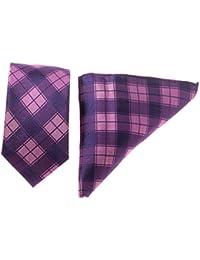 Krawatten Set 6,5 cm Seidenkrawatte + Tuchset 100 % Seide