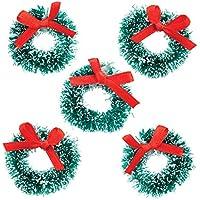 Baker Ross Fournitures de Loisirs créatifs de Noël Mini-couronnes de Noël pour Les créations et décorations de Noël (Lot de 6)