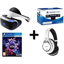 Pack PROMOTION Casque VR SONY + Caméra SONY VR + Casque Audio SOMIC VR 360 + Jeux Playstation VR WORLD