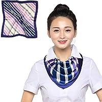 YYXXX Schal,Kleines quadratisches Handtuch Professionelle Etikette Seidentuch Bank Flight Attendant Kleiner Schal