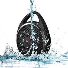 Whitelabel Sounddew Altoparlante Bluetooth Impermeabile da Doccia resistente all'acqua Senza fili Bluetooth Stereo (Bluetooth 4.0, Vivavoce, Microfono integrato) (Soundew Nero)