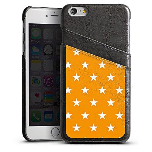 Apple iPhone 5 Housse Outdoor Étui militaire Coque Étoiles Orange Motif Étui en cuir gris