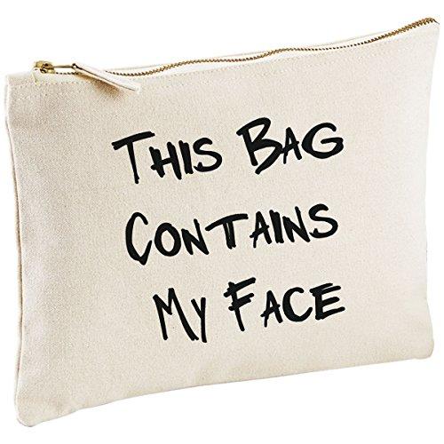 Ce sac contient My Face naturel Make Up sac cadeau Idée Cadeau Sac cosmétique trousse de toilette