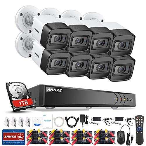 ANNKE 8CH 8MP 2160P Ultra HD Überwachungskamera System 1TB HDD 8 Kanal 4K HDMI DVR Recorder mit 8 Wetterfest 8.0Megapixel(4K) Außen Video Kamera Set Bewegungsmelder 30M IR Nachtsicht Usb-hdd Dvr