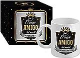 Taza Cerámica para Desayuno en Color Blanco de 300 ml, Un Regalo Original para Familia y Amigos - 'El mejor AMIGO del mundo!'