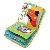 logres Kids Baby 3D Intelligence Development Tuch Buch Bett Blume Educational Spielzeug