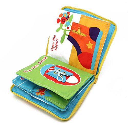logres Kids Baby 3D Intelligence Development Tuch Buch Bett Blume Educational Spielzeug (Helle Beginnen Aktivität)