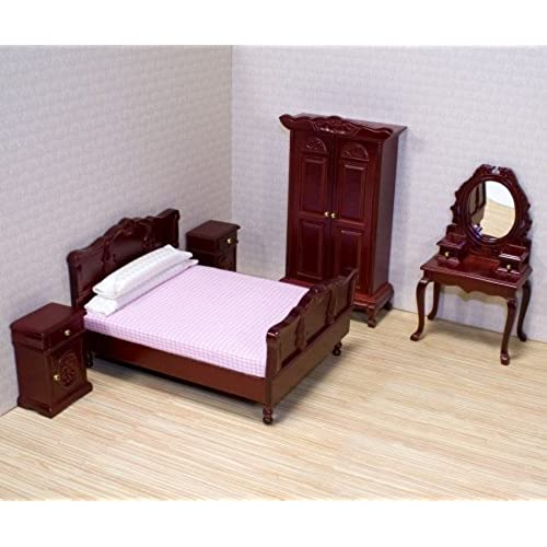 Wonderful Melissa U0026 Doug Classic Victorian Wooden And Upholstered Dollu0027s House  Bedroom Furniture (5 Pcs)