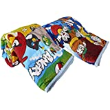 TRUSTFUL Cotton Multicolour Angry Brids And Doreman Prints Single Bed Reversible AC Blanket/Dohar/Quilt/Comforte -Combo Set Of 2