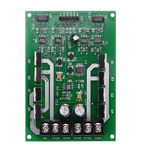 Powlance - Placa de controlador de doble motor H-bridge DC MOSFET IRF3205 3-36V 10A Peak30A
