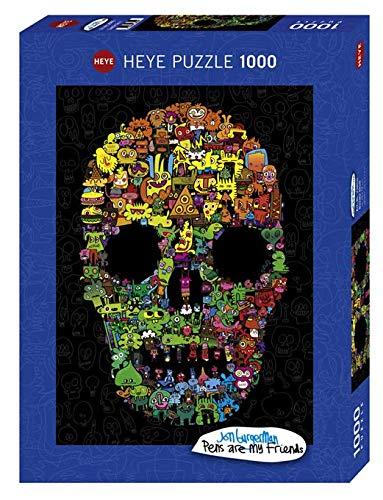 HEYE 29850 Art Lab Puzzles, Pens Are My Friends Puzzzle, Black