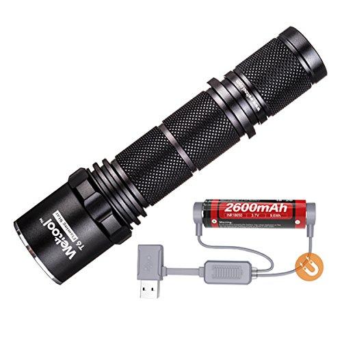 Weltool T6 Industrie Robuste Taschenlampe 292m Strahl Reichweite LED Wasserdichte Taktische Single-Modi - Dauerhaft Einfach Zuverlässig für Camping, Jagen, Radfahren, Suchen, Reparaturen und Rettung -