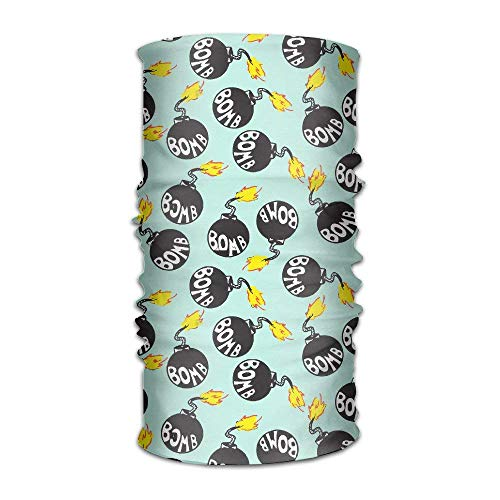 Wdskbg DNUPUP's Bomb Flame Outdoor Magic Bandana Handwear UV Resistence Multi Function Headscarf for Running Yoga Sports Unisex Unisex19