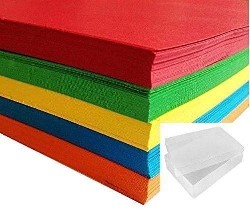 A4-Papier, 80 g/m², bunt, helles Papier, 500 Blatt, 5 Farben, Mega-Packung