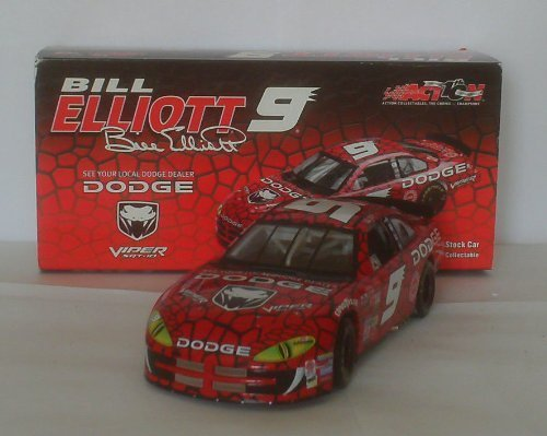 Action - Nascar - Bill Elliott #9 - 2002 Dodge Intrepid - Dodge Viper Paint - 1 of 9084 - 1:24 Scale - Die Cast - Limited Edition - Collectible by Nascar (Elliott-dodge Racing Bill)