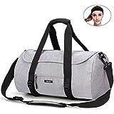 May's Urban Unisex Sporttasche Reisetasche Fitnesstasche Polyester 35L Große Kapazitäten Verschleißfest mit Kopfband Grau