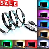 Suparee Multi-colour RGB 90cm/2.95 feet USB LED Strip Light LED TV Background Lighting Kit With USB Cable 30 PCS SMD 5050 ULTRA BRIGHT for Flat Screen HDTV LCD Desktop PC Monitor