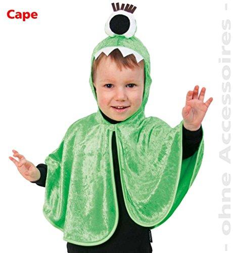 Monster-Cape für Kinder Kleinkinder-Kostüm Space-Monster Baby-Monster Alien Ungeheuer Gr. 98 (Für Monster Kleinkind Kostüme)