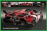 Motorsport - Lamborghini Veneno Roadster - Poster - Grösse 91,5x61 cm + Wechselrahmen, Shinsuke® Maxi Kunststoff Grün, Acryl-Scheibe