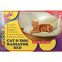 Playful Pets mascotas gato perro cachorro Radiador cesta de forro polar cuna cama