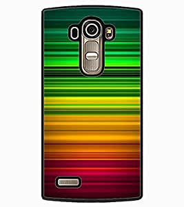 ColourCraft Colourful Bars Design Back Case Cover for LG G4