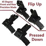 : AR15AR 15vorne und hinten Flip Up 45Grad schnellen Übergang BUIS Backup Iron Sight