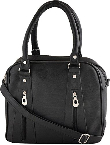 Typify Beautiful Double Chain Design Handbag in Multiple Colors (Black)
