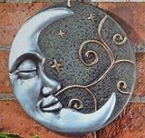 Beautiful Silver Moon Terracotta Wall Plaque Garden Art Ornament