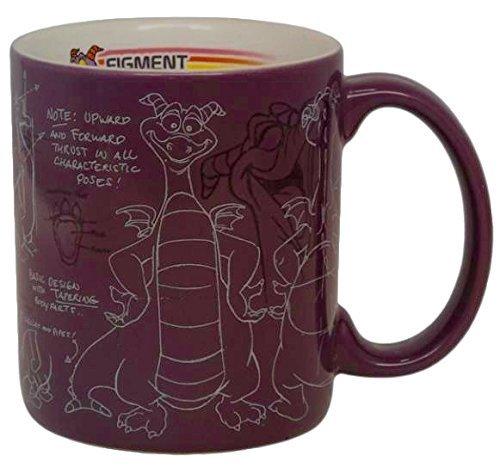 Disney Parks Epcot Center Figment Maskottchen Sketch Kaffeetasse Tasse (Disney Epcot Center)
