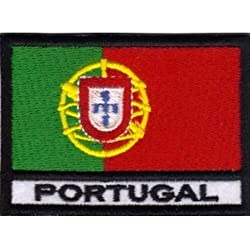 Patch Bandera PORTUGAL cm 7 x 5 Parche Bordado Bordado Portugal -015