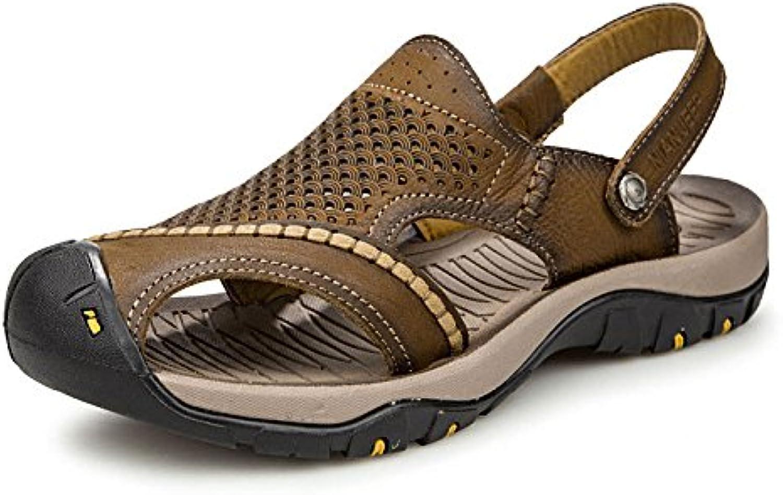 Baotou Sandalen Strand Schuhe Mode Sandalen DarkBrown 42Baotou Sandalen Strand Schuhe DarkBrown 42 Billig und erschwinglich Im Verkauf
