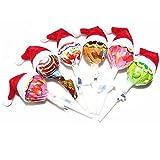 Saint-Acior 6 süße Mini Weihnachtsmannmützen Eier Schoko Deko Mützchen Weihnachtsmützen Besondere Weihnachtsdeko