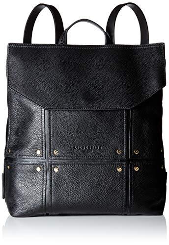 Liebeskind Berlin Damen Mnpbackpm Pebble Rucksackhandtasche, Schwarz (Black), 10x30x29 cm