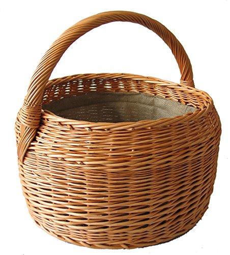Cesta para leña, Cesta de mimbre para madera, diámetro de 47, H 28/41cm