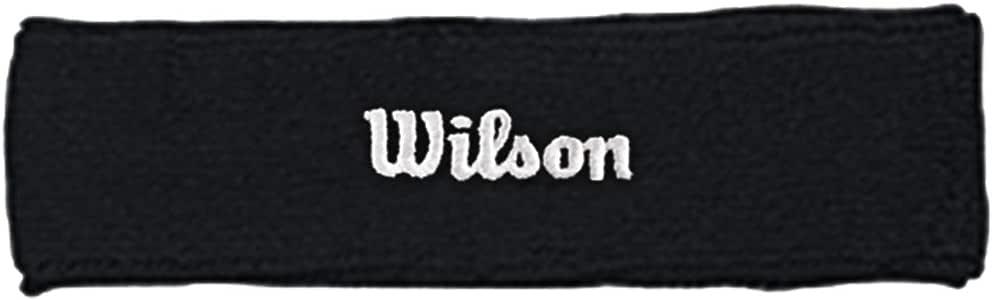 Blanc Taille Fabricant : OSFA FR : WILSON Headband Wh Bandeau Homme