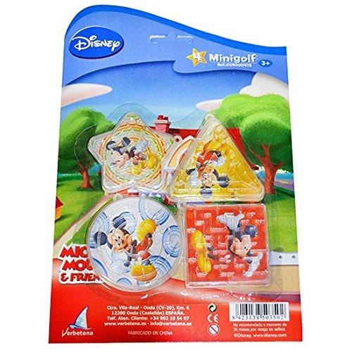Mickey Mouse - Blíster con 4 mini golf (Verbetena 014000478)