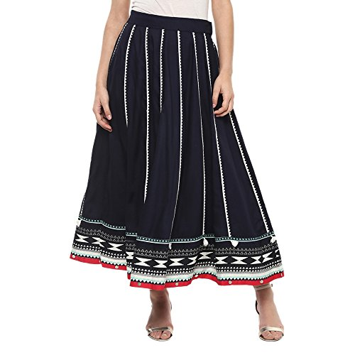 W for Women Full Maxi Skirt (18FE55385-12108_BLUE_WS)
