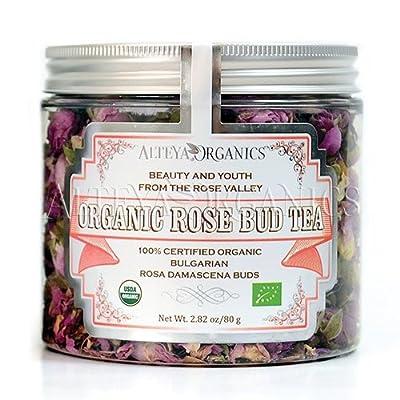 Alteya Thé Bouton de rose Bio 80gr–100% certifiée biologique Rosa Damascena Bio Herbal Infusion–Sélectionnées et Vendu directement par le Rose grower Alteya Organics