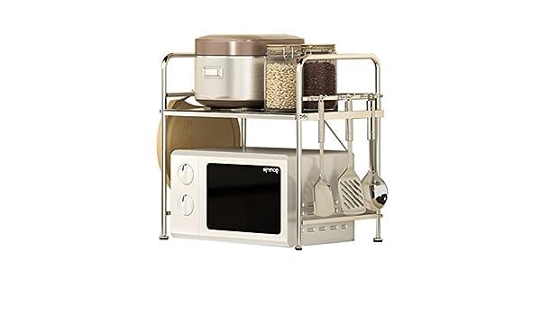 Chrome XFPINK-mensola 1 Story Kitchen Shelf//Storage Rack//Microwave Oven Rack Dimensioni : 49cm