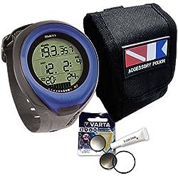 Mares Puck Pro Sparset - Sac de transport avec batterie et graisse en silicone, bleu