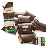 10 kleine Geschenkschachteln Geschenk-Boxen Kartons braun 14,5 x 10,5 + 3 cm mit Aufkleber PIRATEN SCHATZKISTE zum Kinder-Geburtstag - selber basteln und befüllen - als Verpackung